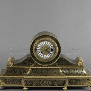 A Fine Louis XV Style Boulle Mantel Clock