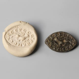 A Medieval Vesica Seal with Passant Leopard