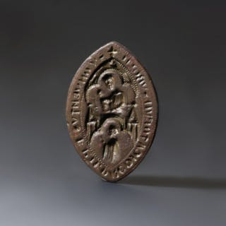 Mary And Child Vesica Bronze Seal
