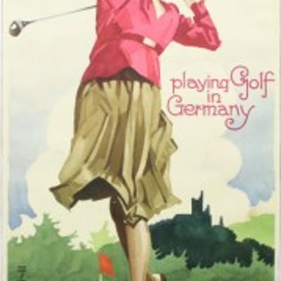 Golf Poster, Golf in Germany