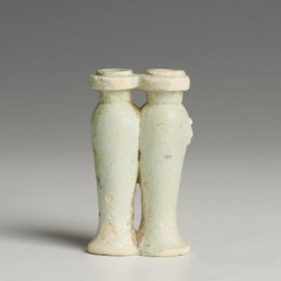 Egyptian Double Chambered Model Hes Libation Vase