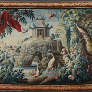 "18th Century Tapestry by Jean Pillement - ""À la Pagode et au Carquois"""