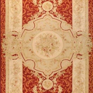 Antique Aubusson silk rug