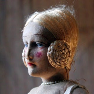 A Scarce Early 20thC French Ballerina Boudoir Doll c.1920-30