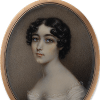 A portrait miniature of the artist's daughter, probably Selina Plimer