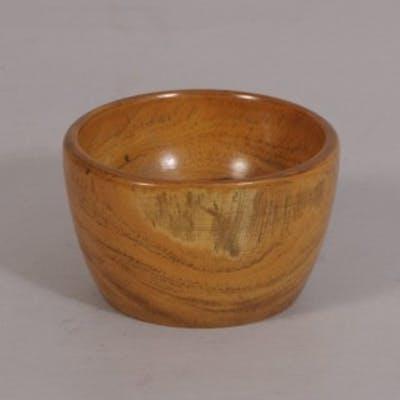 Antique Treen 19th Century Lignum Vitae Wool Bowl