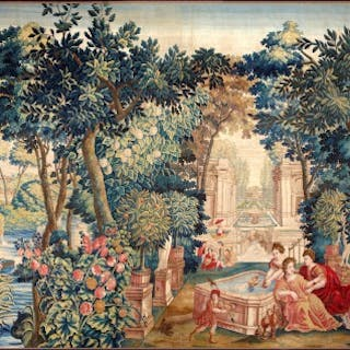 "Antique tapestry ""Allegory Of Spring"""