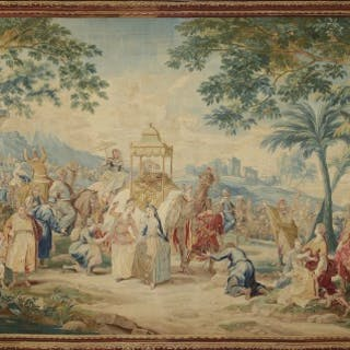 "Culturally significant antique tapestry ""Asia - The Caravan to Mecca"""