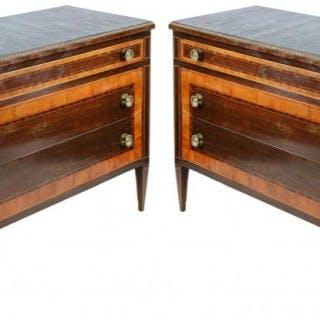 Pair 18th Century Style Italian Commodes
