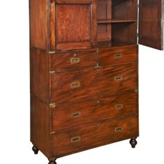 Military Chest with Cupboard