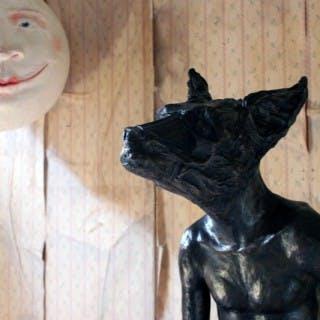 Beth Carter; Sitting Dog; Bronze; Edition 2 of 15