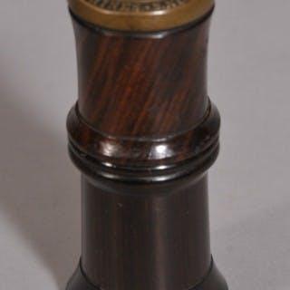 Antique Treen 19th Century Laburnum Needle Case