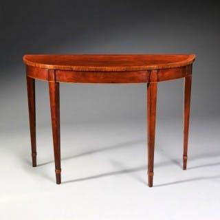 GEORGE III MAHOGANY CONSOLE TABLE