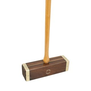 Brass bound Croquet Mallet By Jaques