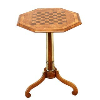 Regency English Antique Chess Top Occasional Table