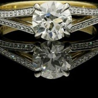 Hancocks 1.05ct Old European Brilliant cut Diamond Ring with Split