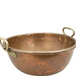 Antique Twin Handled Copper Pan