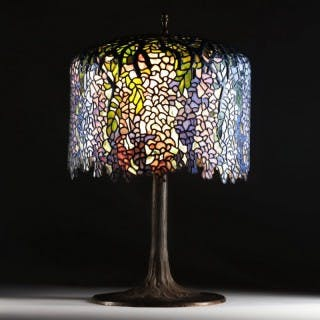 WISTERIA TABLE LAMP AFTER TIFFANY STUDIOS