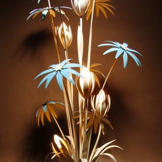 1970s Floral Floor Lamp By Hans Kögl