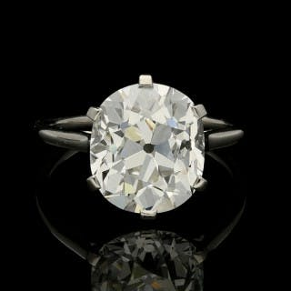 Cartier Diamond Solitaire Ring with a 6.06ct Old Mine Brilliant Cut