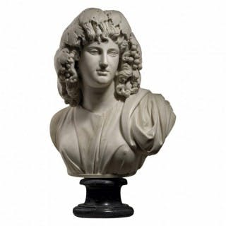 18TH CENTURY MARBLE BUST OF MELPOMENE – MUSE OF TRAGEDY