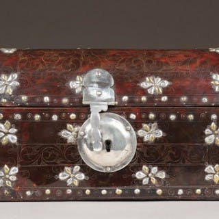 Spanish Colonial Mexico Tortoiseshell Domed Casket