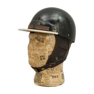 Vintage Cromwell Motoring Helmet, Pudding Basin.