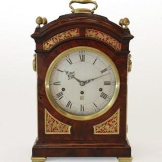 Bell-chiming verge Bracket Clock by Wagstaffe, London