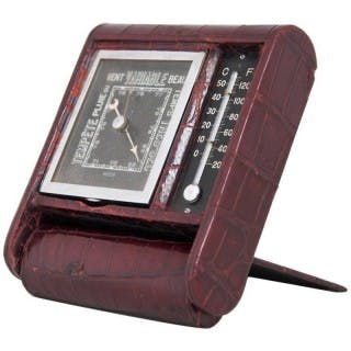 Jaeger‑LeCoultre Art Deco Travelling Barometer and Thermometer, circa 1930