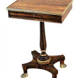 Calamander Wood Regency Period Oblong Antique Lamp Table