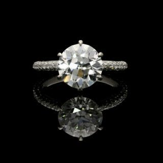 Hancocks 3.08ct Old European Brilliant Diamond Solitaire Ring with