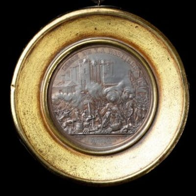 Pair of French Revolutionary Lead Medallions Commemorating the Siege