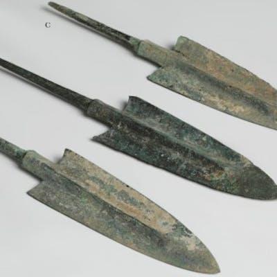 Selection of Luristan Bronze Tanged Arrowhead