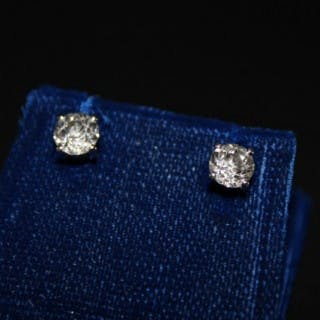 18ct White Gold 1.73 Carat Diamond Stud Earrings, Pre Owned
