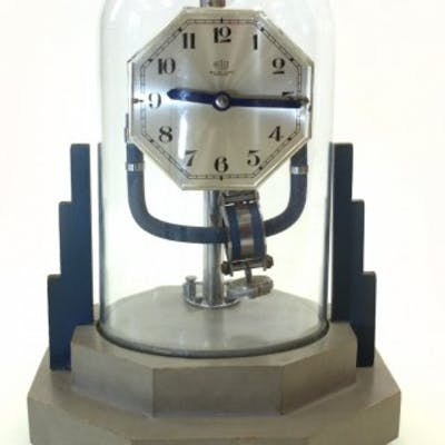 Art Deco Bulle clock under a glass dome