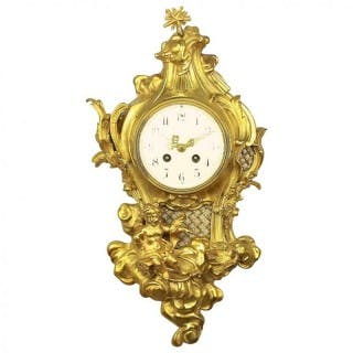 French 19th Century Louis XV Style Cartel Clock after a Model by Philippe