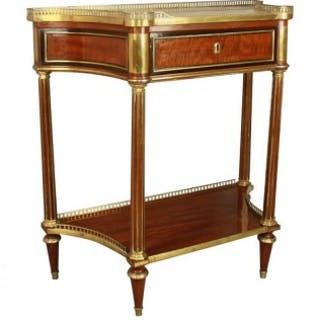 "French Louis XVI Neoclassical Mahogany Console Table or ""Desserte"""