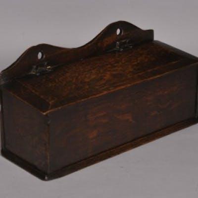 Antique 19th Century Welsh Oak Candle Box
