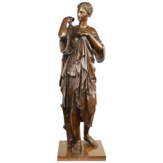 "Large Bronze Sculpture of ""Diana of Gabii"", Barbedienne/Paris, 2nd"
