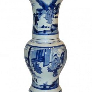 kangxi Blue and White Yen Yen or Phoenix tail Vase