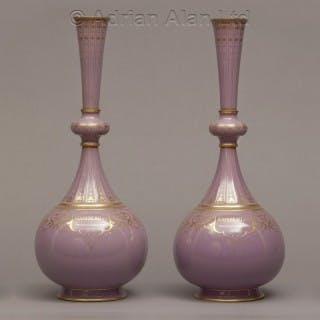 An Exceptionally Rare Pair of Sèvres Porcelain Presentation Vases