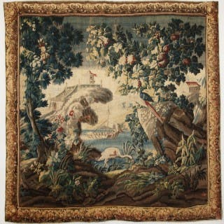 18TH CENTURY AUBUSSON TAPESTRY IN THE CHINOISERIE TASTE