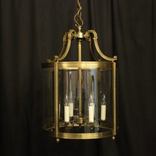 French Large Gilded Bronze Antique Lantern