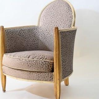 Art deco club chair attributed to Paul Follot