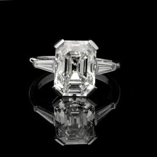 b78c7dc14 Hancocks 5.19 Carat Old Emerald-cut Diamond Platinum Ring
