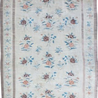 Pale antique Bessarabian kilim