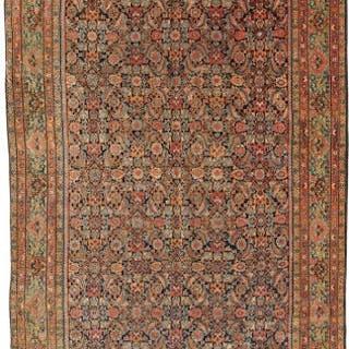 Antique Farahan carpet, Kelleh size, Persian