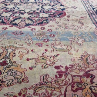 Fine exquisite c.1880 Isfahan rug