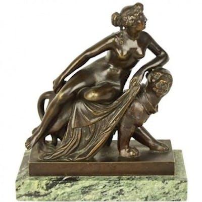 """Small Bronze Sculpture of """"Ariadne Riding a Panther"""", after J.H. von Dannecker"""