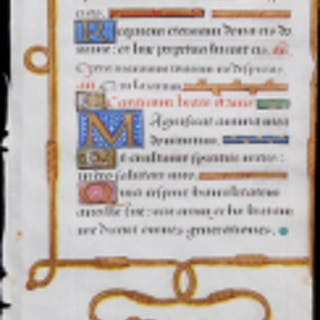 Manuscript Page with Psalm